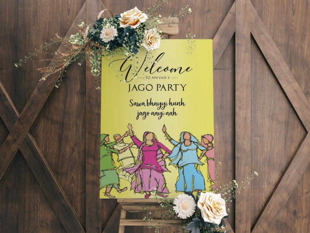 Jago Party Sign