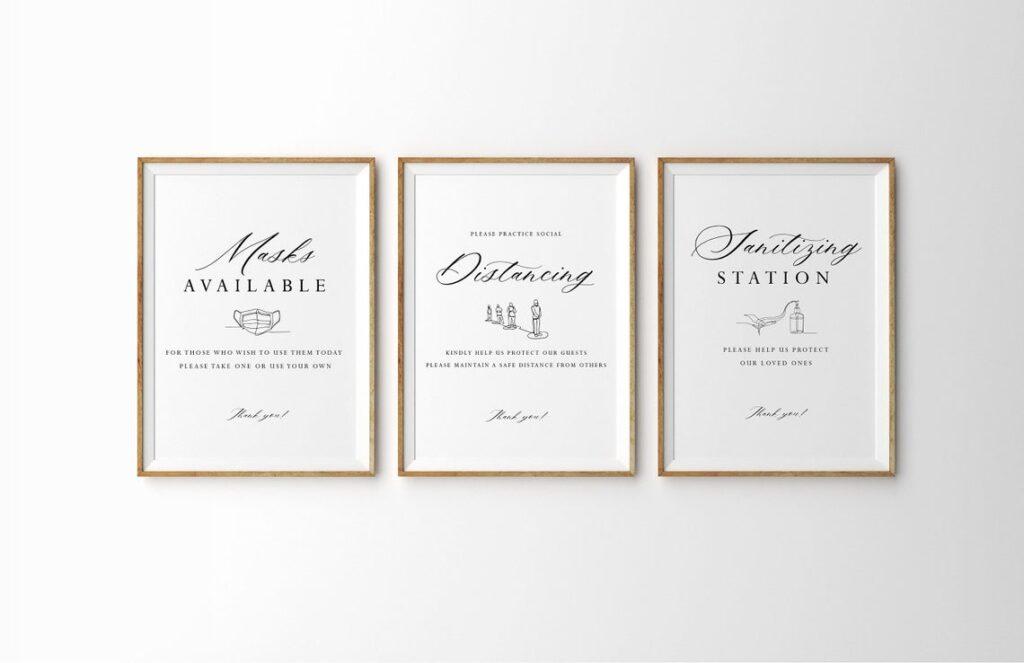 Covid Wedding Signs | Wedding | Covid Wedding | Indian Wedding | Sangeet Sign | Mehndi Sign | Maiyan Sign