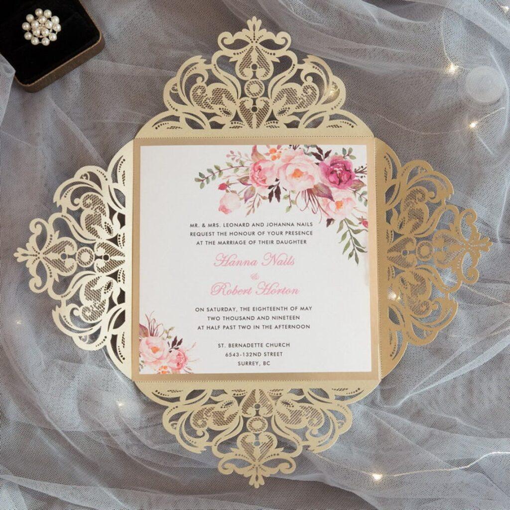 Ài Suite | Laser Invitation, 4-Fold Invitation, Customizable, Indian Wedding Invitation, Square Invitation – DEPOSIT ONLY