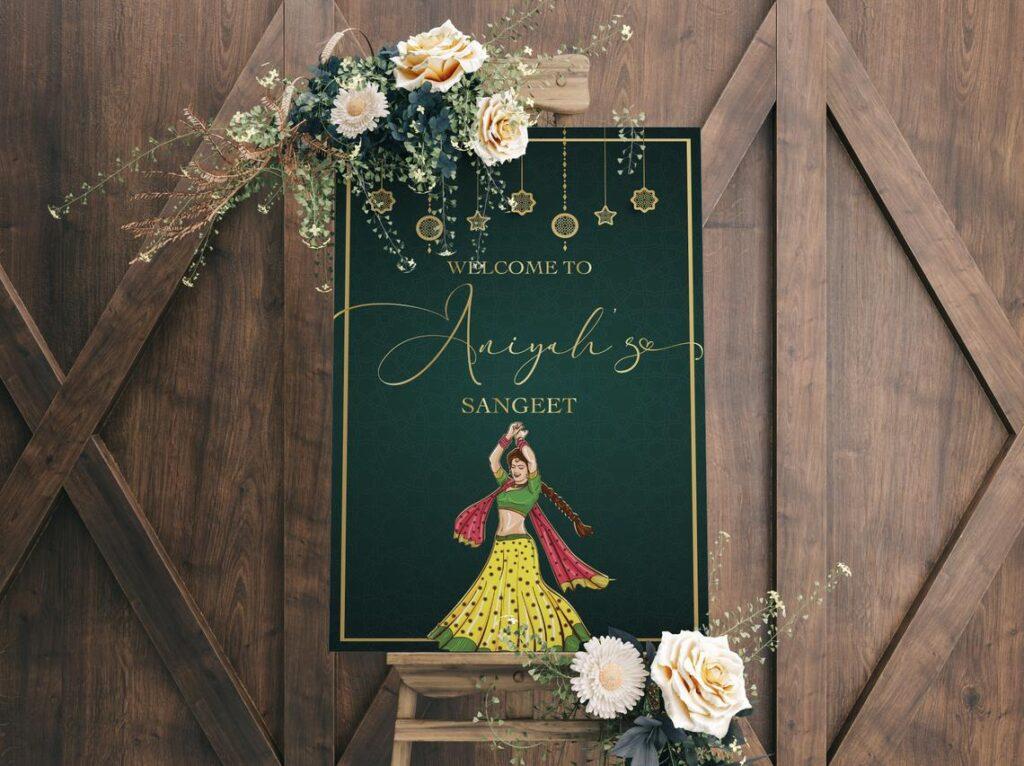 Wedding Welcome Sign | Sangeet | Mayian | Jago Party | Reception Sign | Mehendi Sign | Haldi