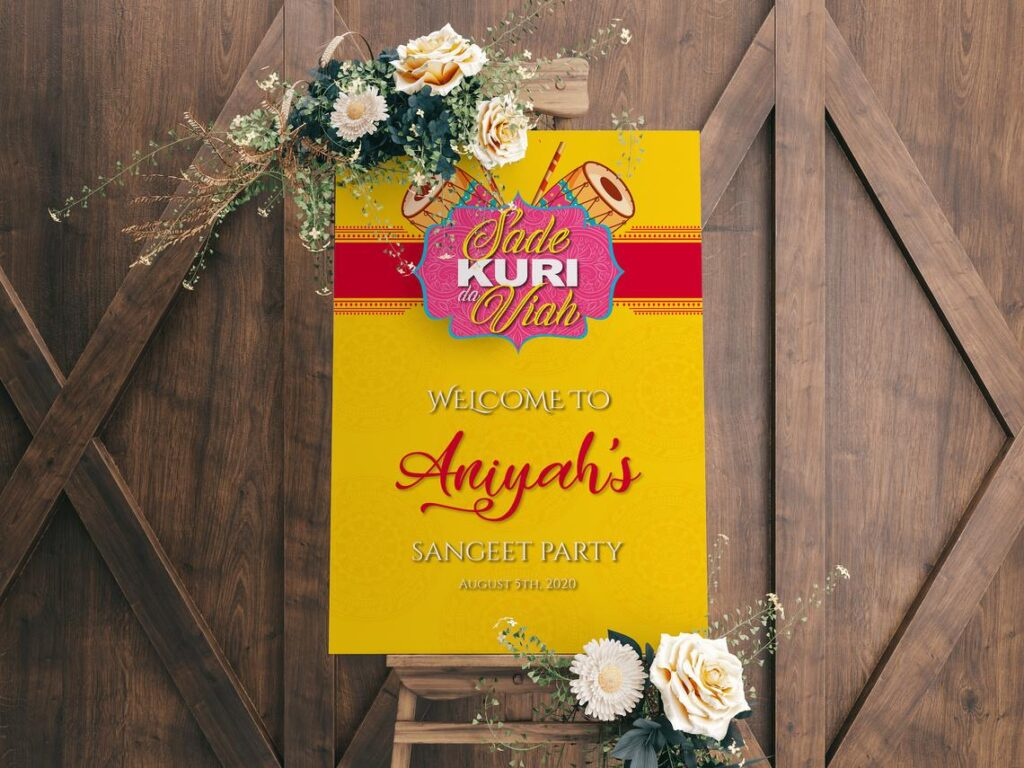 Welcome Sign | Sangeet | Maiyan Sign | Jago Sign | Punjabi Sign | Personalized | Sude Kuri Da Viah