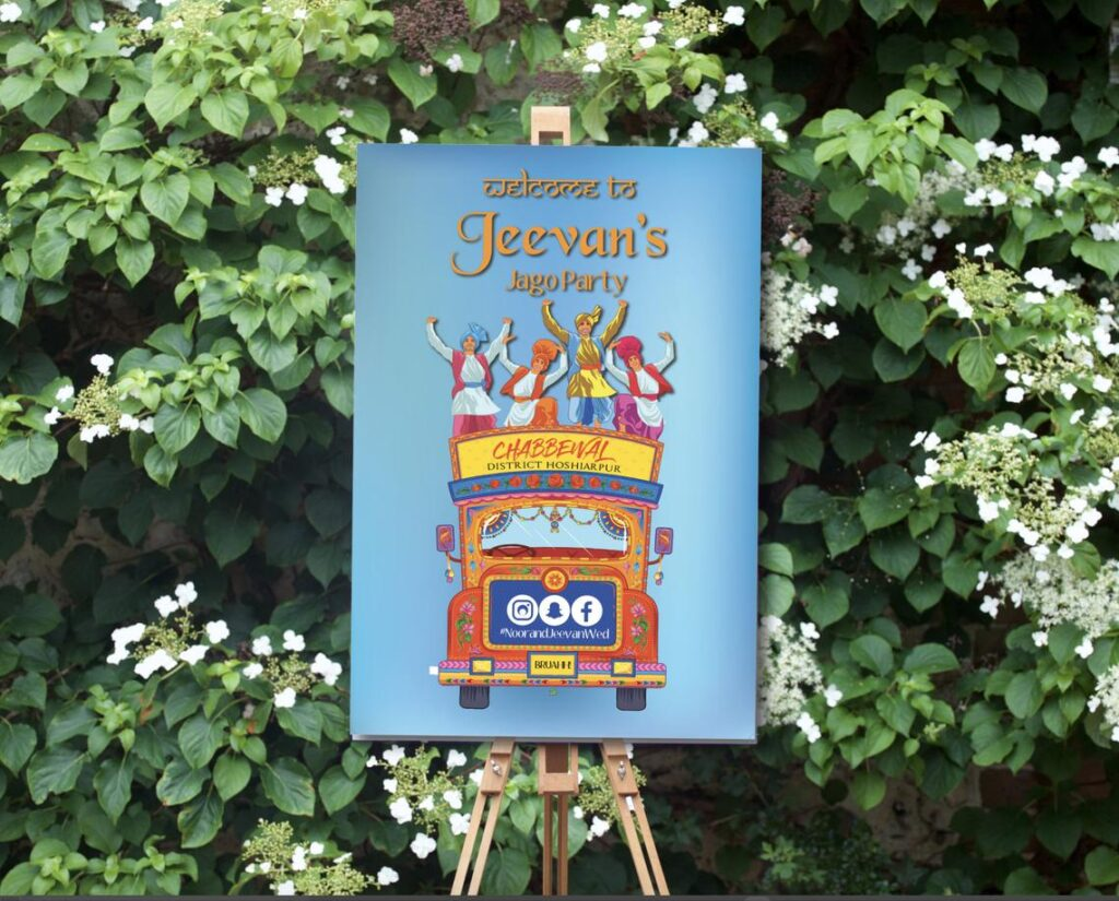 Wedding Welcome Sign | Sangeet | Mayian | Jago Party | Reception Sign | Brothers Wedding