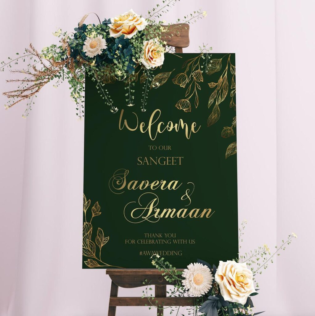 Welcome Sign | Sangeet | Ladies Sangeet | Mayian Sign | Reception Sign | Wedding Sign | Personalized | Digital File