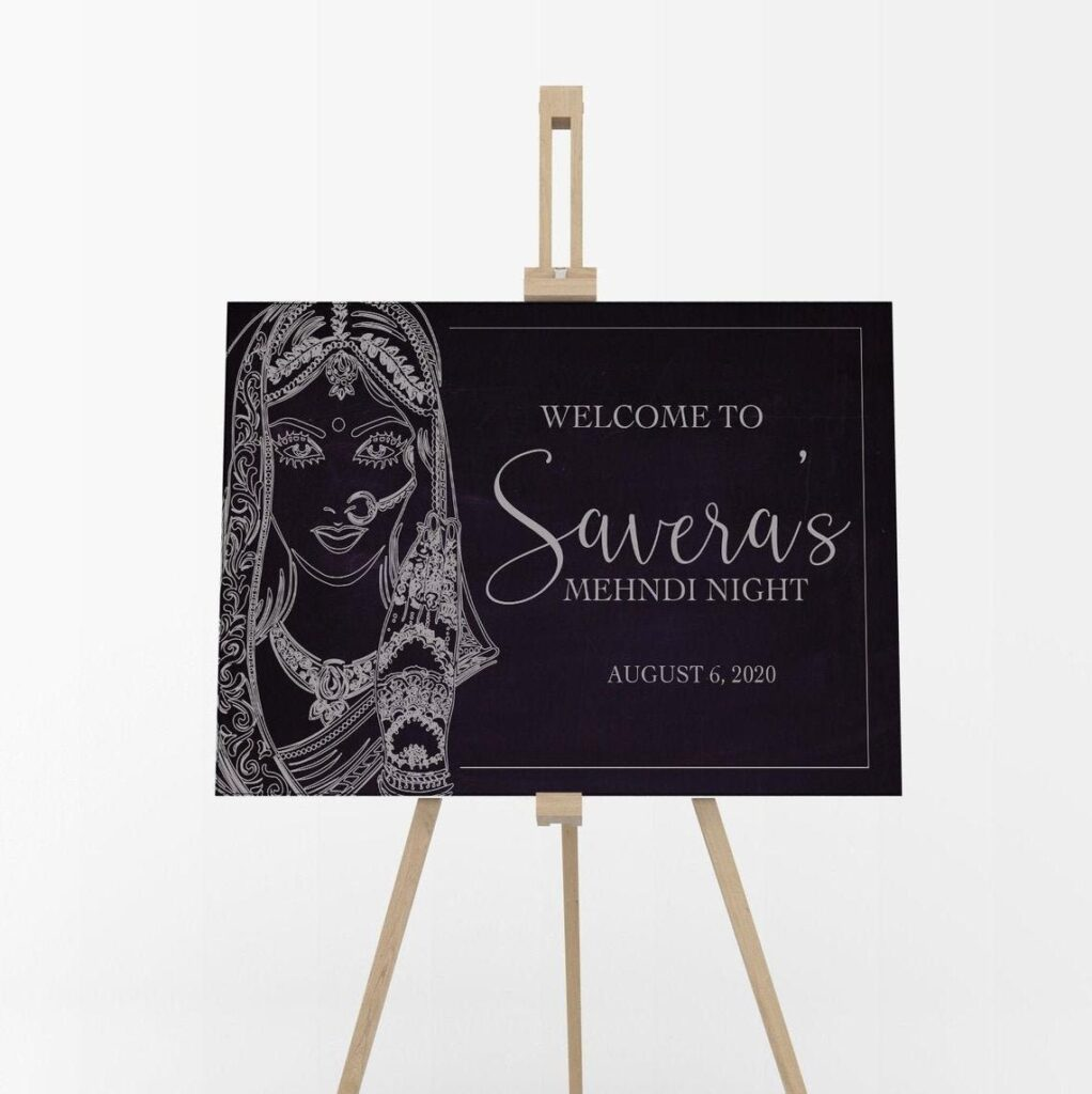 Welcome Sign   Sangeet   Ladies Sangeet   Mayian Sign   Reception Sign   Wedding Sign   Personalized   Digital File