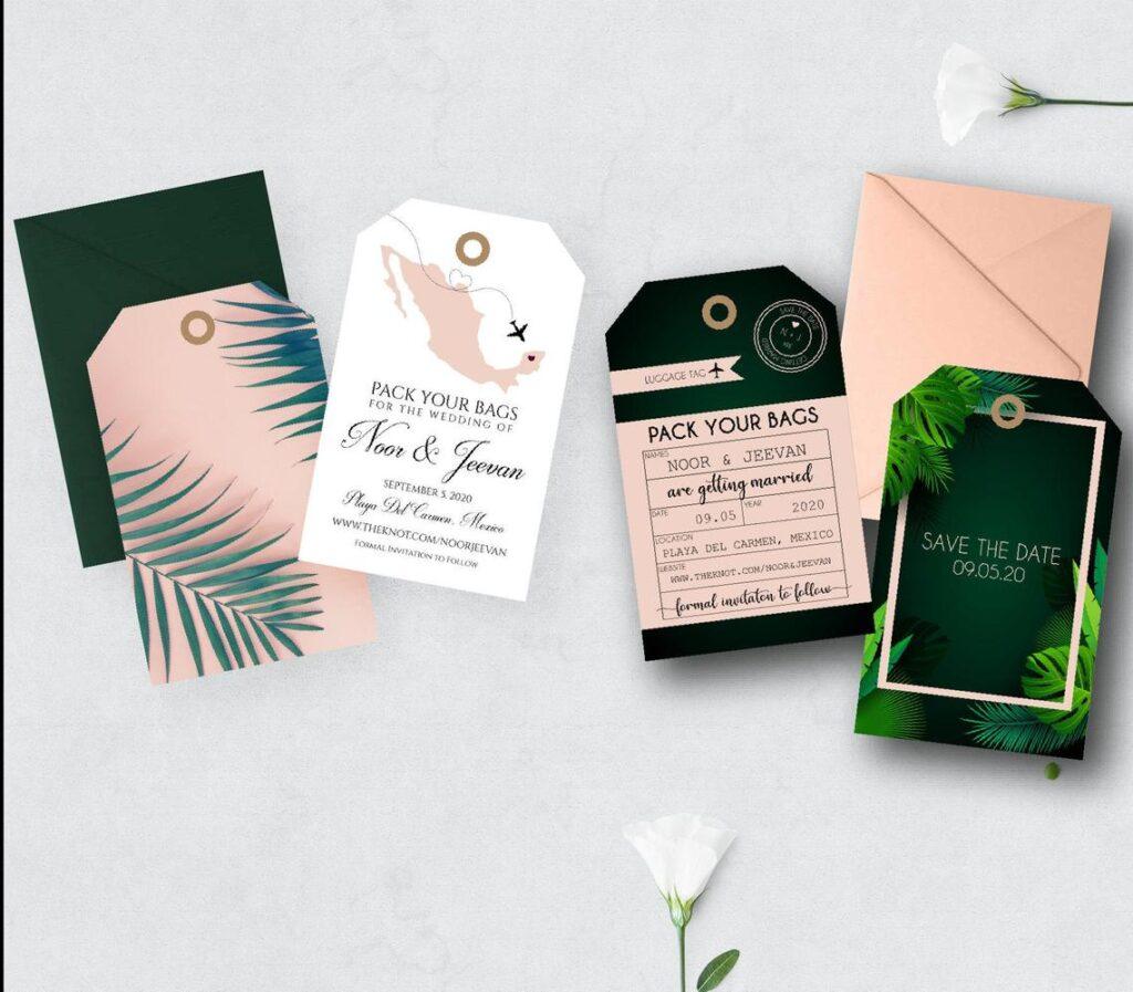 Destination Wedding Luggage Tags | Save the Dates | Destination | Luggage Tag Invitation