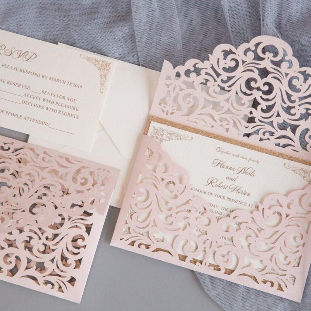 Laska Suite | Laser Invitation, Pocket Invitation, Customizable, Indian Wedding Invitation – DEPOSIT ONLY