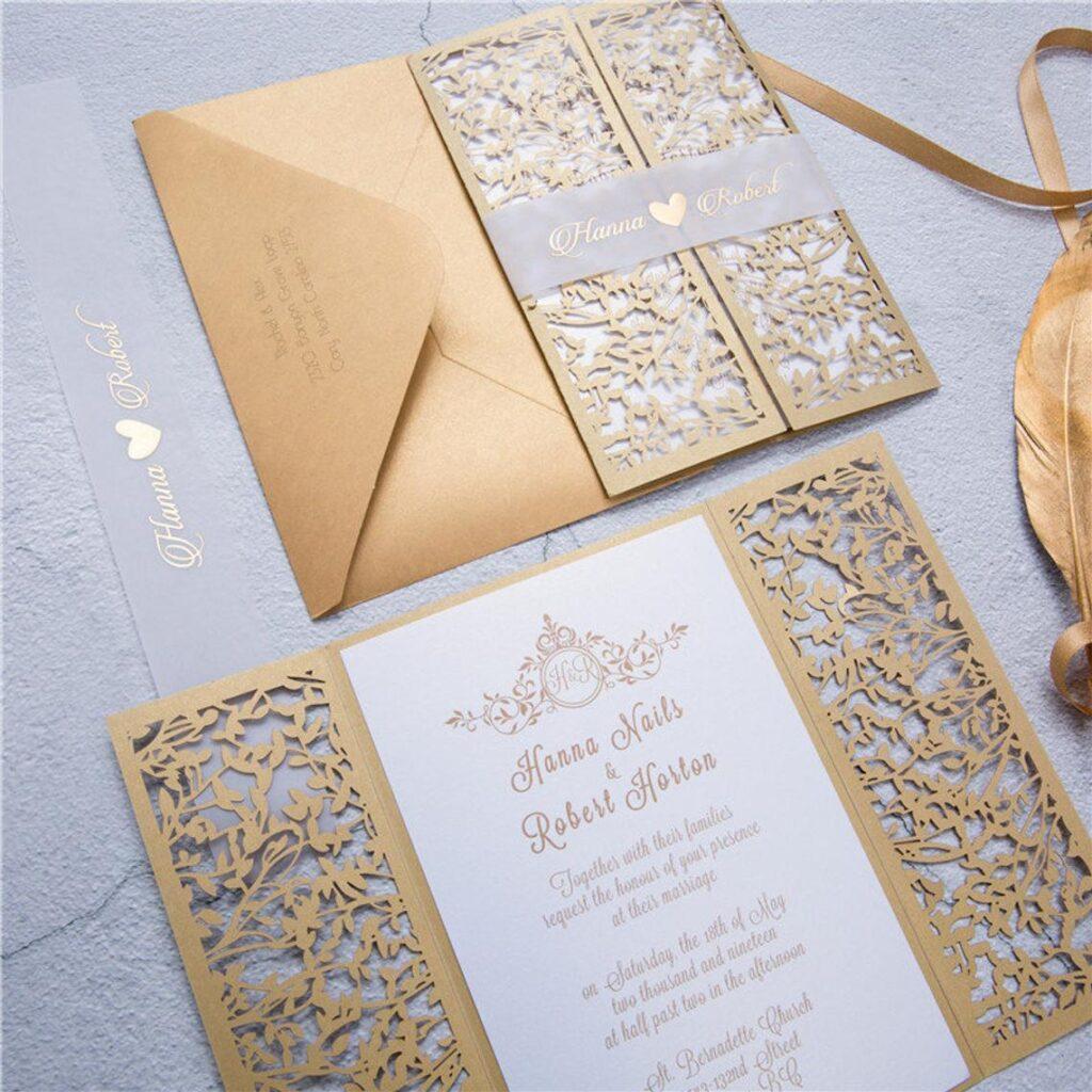 Dulce Suite | Laser Invitation, Gatefold Invitation, Customizable, Indian Wedding Invitation – DEPOSIT ONLY