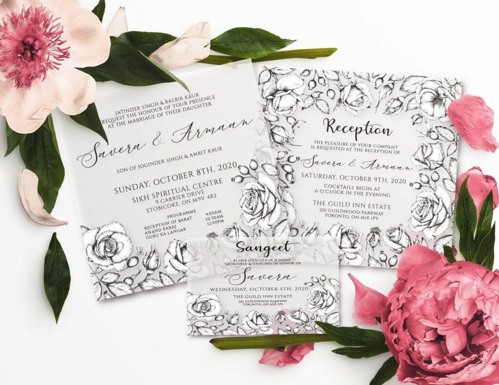Rosa Suite | Foil Stamped Vellum Wedding Invitations, Vellum, Foil, Indian Wedding Invitations, Customizable