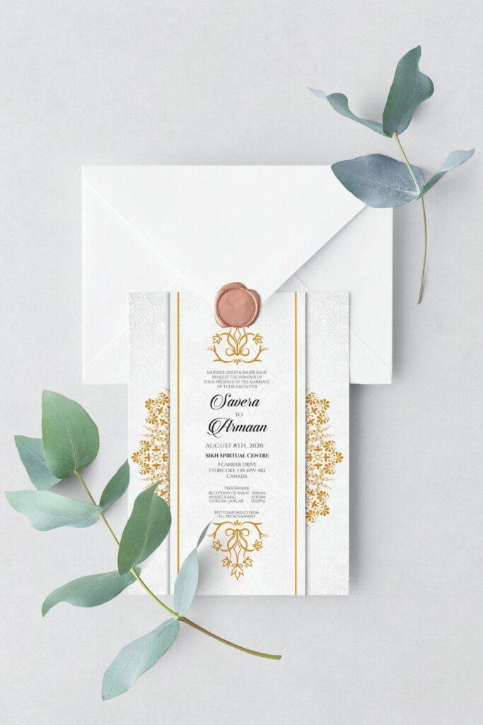 Digital Invitation, Indian Wedding Invitation, Downloadable, Large Size, Personalized Invitation Set, DIY