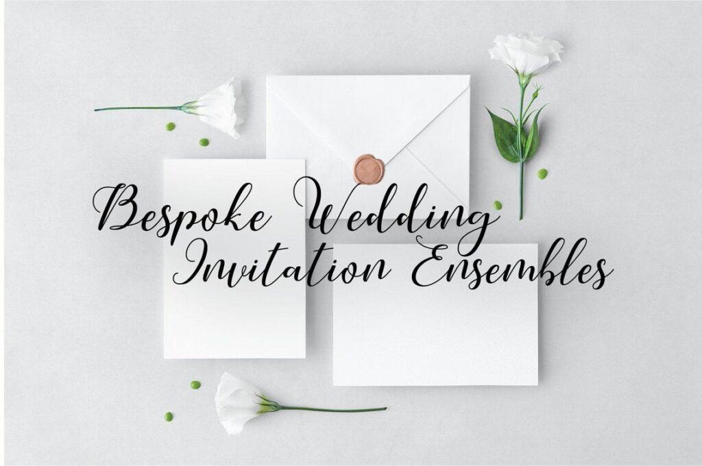 Bespoke Wedding Invitation Ensemble – DESIGN DEPOSIT