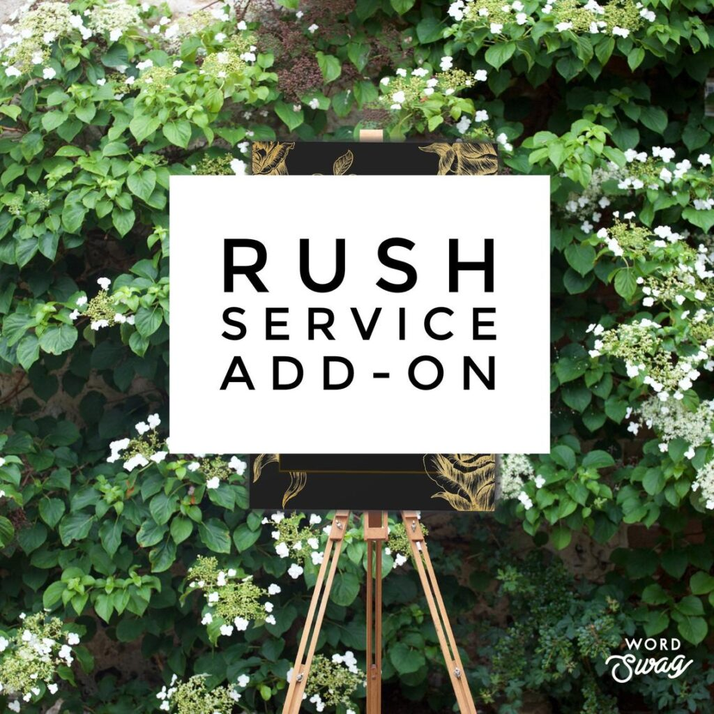Rush Service – ADD-ON