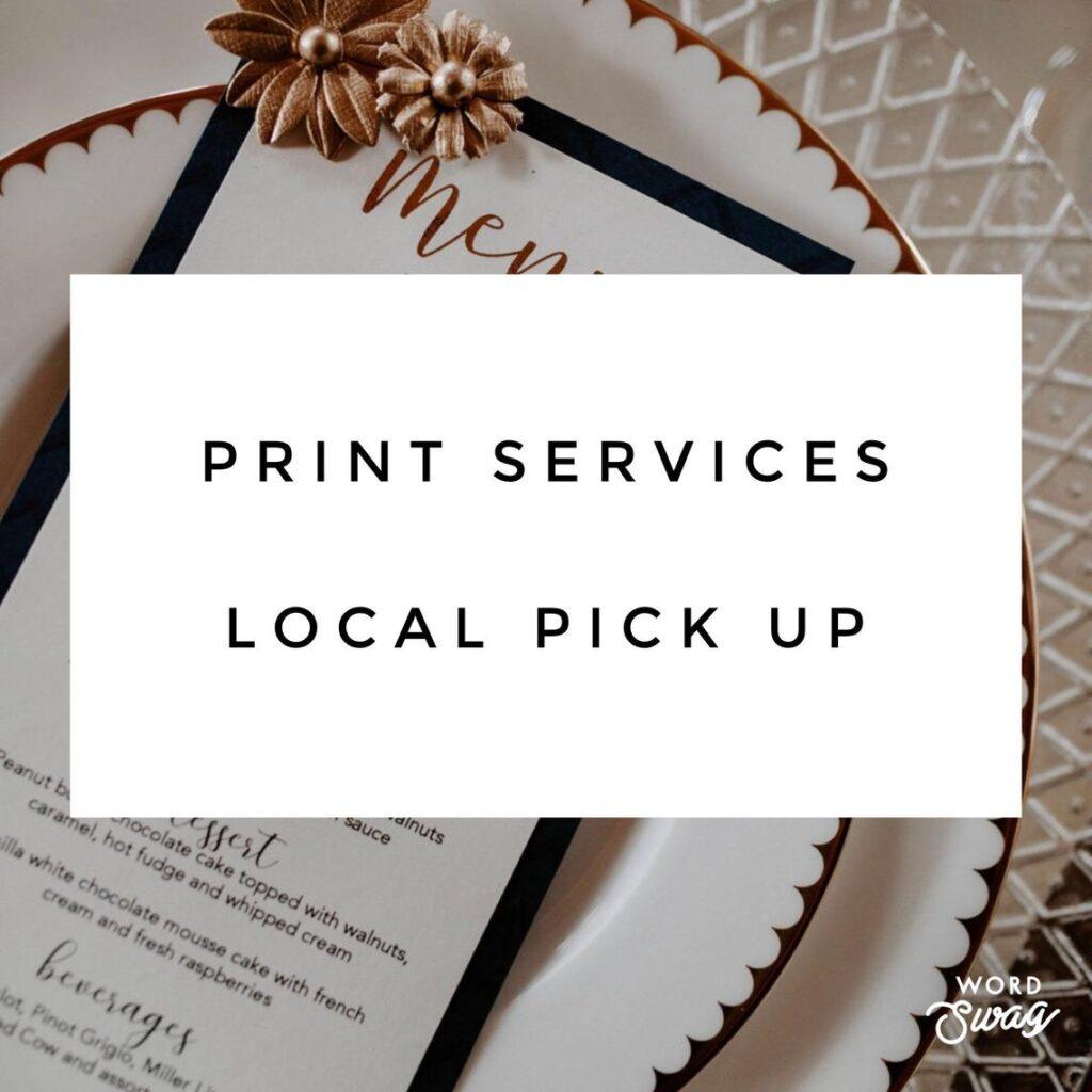 Wedding Stationary PRINT Services – GTA Pick Up
