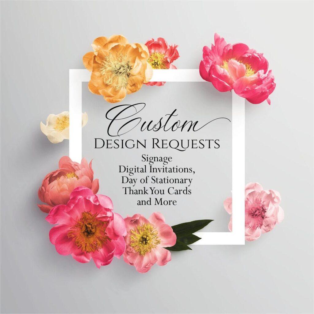 Custom Design Work – Programs/Signs/Other Stationary